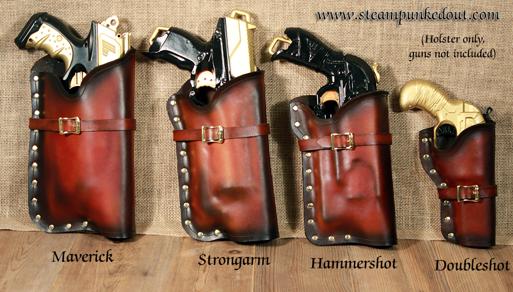 Steampunked Out Nerf Holsters