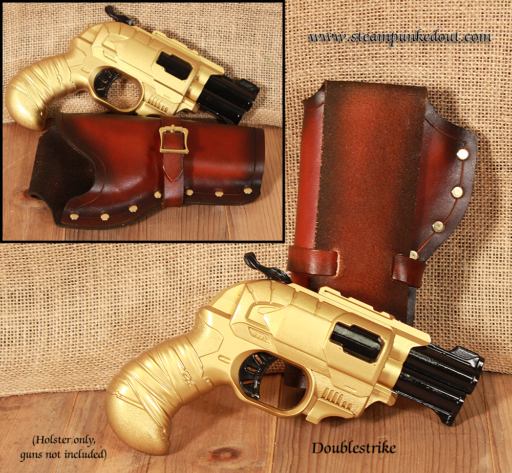 Steampunked Out Nerf Doublestrike Holster