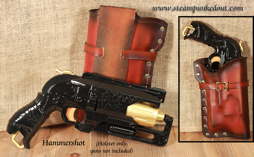 Steampunked Out Nerf Hammershot Holster