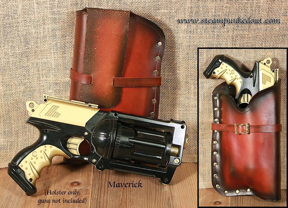Steampunked Out Nerf Maverick Holster