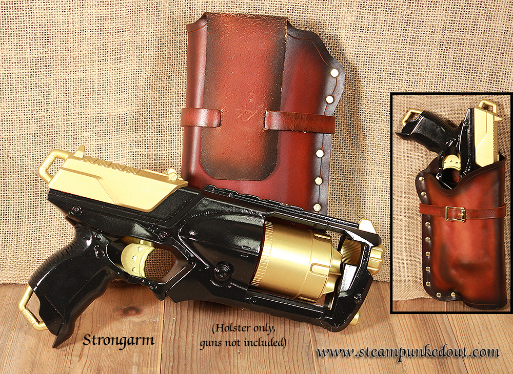 Steampunked Out Nerf Strongarm Holster